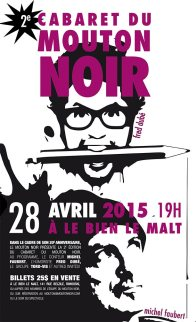 Affiche d'événement / Journal Le Mouton noir