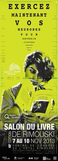 Affiche d'événement / Salon du livre de Rimouski