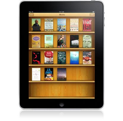 Aplicación iBooks en el Apple iPad