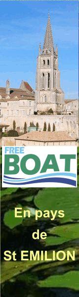 FREEBOAT en pays de St Emilion