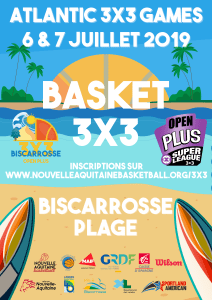Biscarosse s'avance avec son Open Plus 3×3 ce week-end !