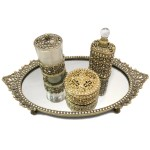Antique Gold Bronze Vanity Set
