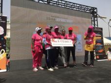 La Dakaroise a permis de récolter 8 173 644 FCFA pour la ligue sénégalaise contre le cancer. ©Marathon de Dakar