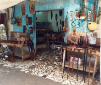 Boutique de sculptures en bois d'ébène
