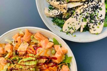 Bowl de légumes et protéines légères