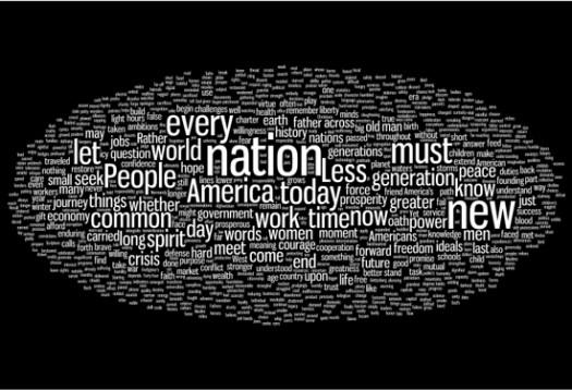 Obama inauguration wordle