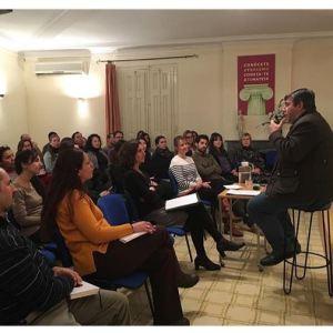 Reunión de voluntarios en Nueva Acrópolis Barcelona