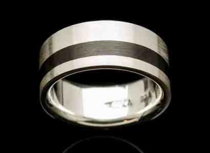 Silver Wood Ring-r245