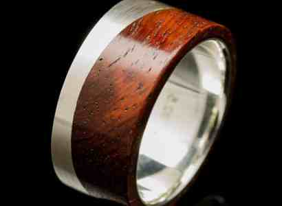 Silver Wood Ring-r247
