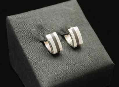 Silver Wood Earrings-er98