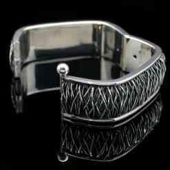 Sterling Silver Square Nova design Bracelet (BR47 sq)