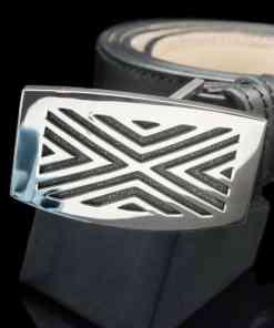 Sterling Silver 925 Line Motif Belt Large(BT02lg)