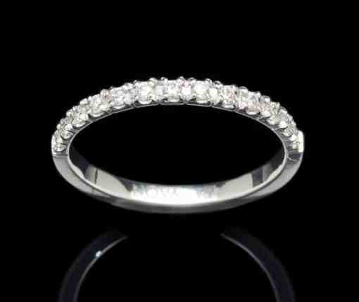 18k White Gold Ring with Diamond (GR75-2mm)