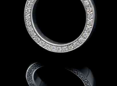 18K White Gold Rings with Diamond (GR81)