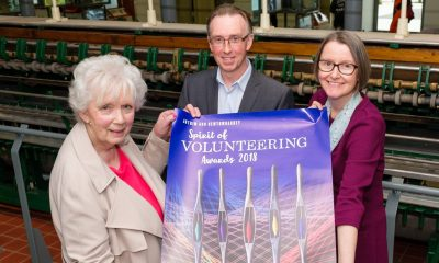 Launching this year's Antrim and Newtownabbey Spirit of Volunteering Awards are HM Lord Lieutenant for County Antrim Mrs Joan Christie OBE, Paul Dinsmore and Denise Haywood, Chief Executive for Volunteer Now.