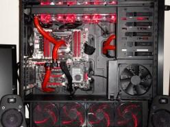 PC Gamer Watercooling rouge