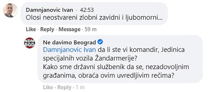 OVO MI PLAĆAMO: Komandant Žandarma nazvao protestante ološem! 1