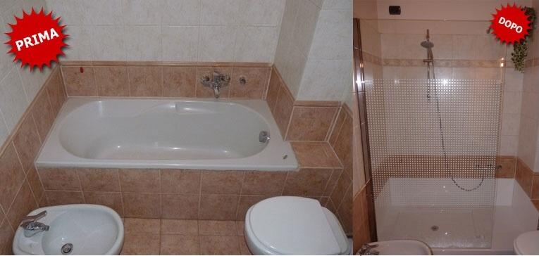 Trasformazione vasca in doccia senza opere murarie