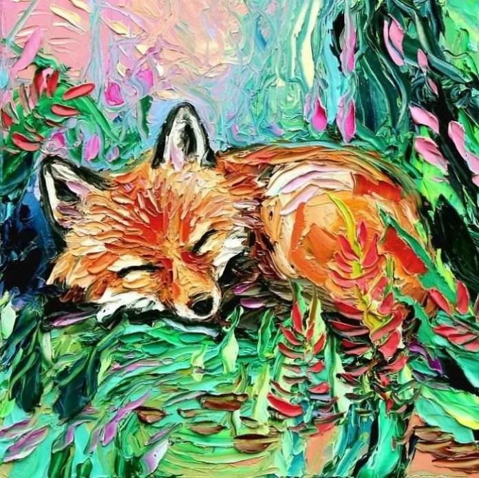 Aja Trier Crea Quadri Di Animali Usando La Tecnica Di Van Gogh