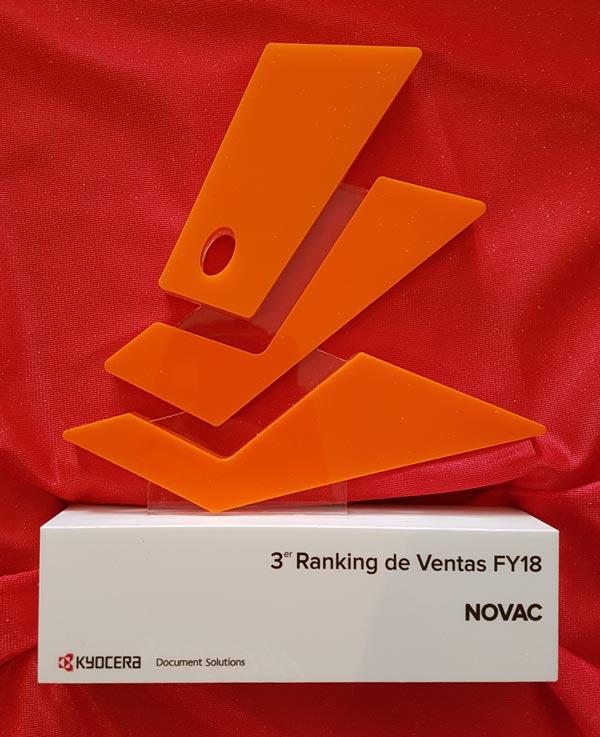 NOVAC 3º Ranking Ventas FY18 KYOCERA