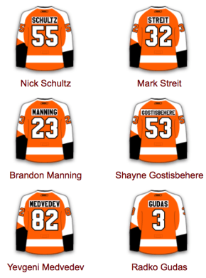 Flyers Defense pairings