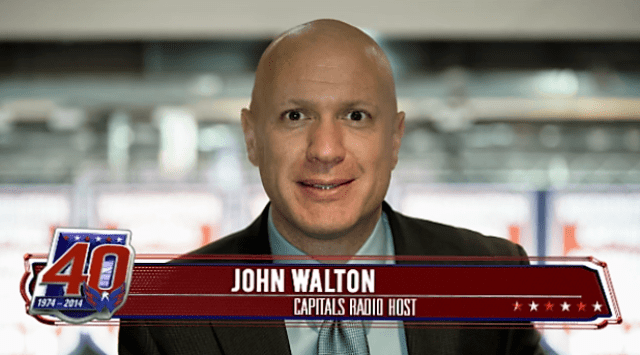 John Walton Washington Captials Caps Radio