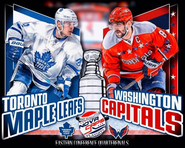 Maple Leafs Versus Capitals graphic