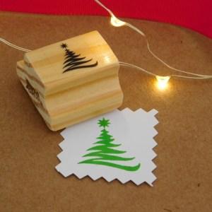 Carimbo Árvore de Natal  – riscada