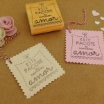 Carimbo TAG 02 – Este pacote contém amor