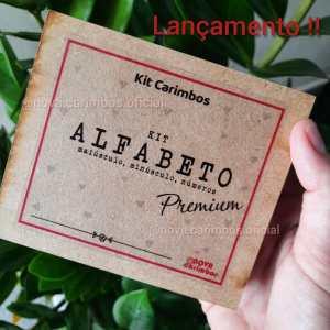 Kit de Carimbos Alfabeto Premium – 80 Peças – tam aprox. 1x1cm