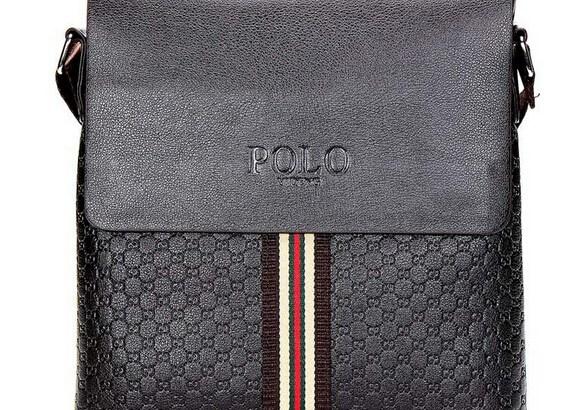 Мъжка чанта с вертикална цветна лента