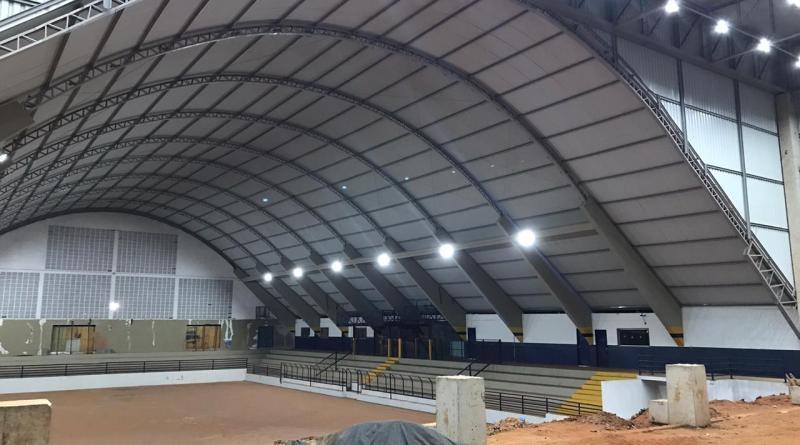 Realizados testes da nova iluminação do Ginásio de Esportes de Orlândia