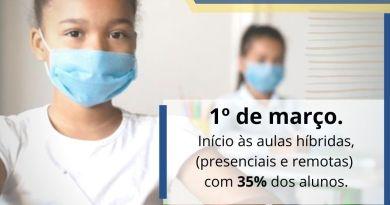 São Joaquim da Barra retoma aulas presenciais na rede municipal a partir desta segunda-feira (1º)