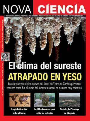 Portada de Nova Ciencia octubre 2020. Cápsula climática en yesos.