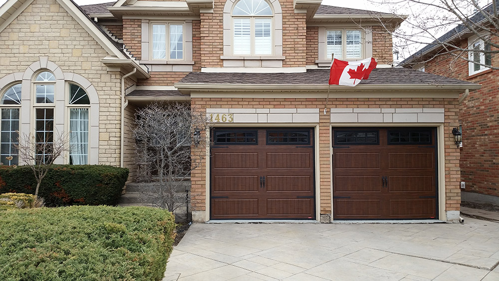 home with double garage door
