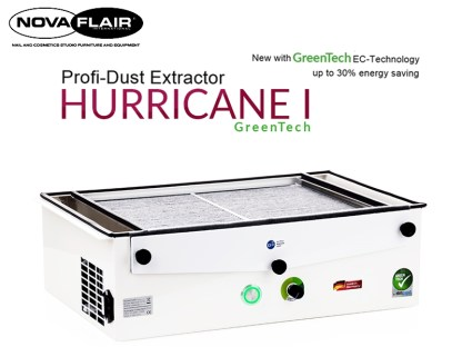 Hurricane 1 Professional Nail Salon Dust Filtration System Nova Flair UK
