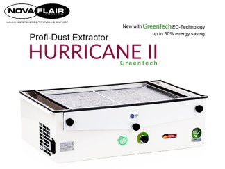 Hurricane II Professional Nail Salon Dust Filtration System Nova Flair UK