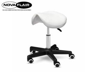 Bilo Saddle Stool Adjustable Salon Massage Hairdressing Tattoo Spa Chair Nova Flair UK