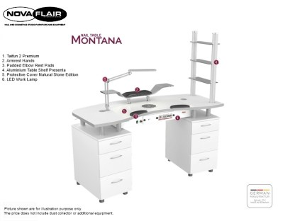 Nail Table Montana 2 Nova Flair UK