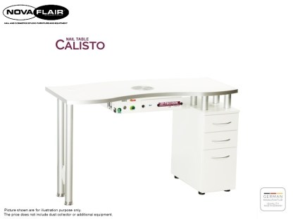 Calisto Nail Table With 1 Container Nova Flair UK 1