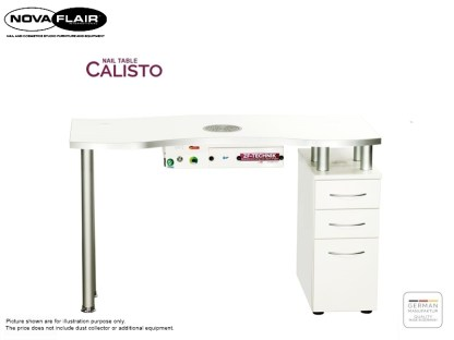 Calisto Nail Table With 1 Container Nova Flair UK 2