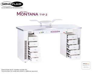 Montana Nail Table Type 2 Integrated LED Lighting Nova Flair UK