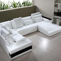 Sectional Sofas Boston European Style Diamond White Leather Sofa With Lights Buy From Nova