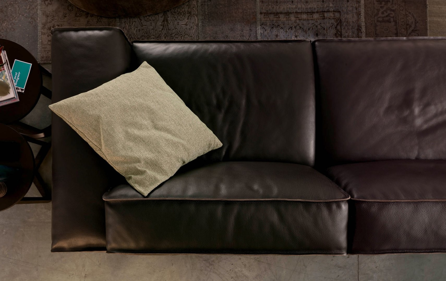 Avenue Leather Sectional By Chateau DAx Italia Is