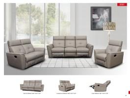 8501 contemporary contemporary reclining Leather sofa NOVA ...