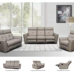 Contemporary Reclining Sofa Leather Crypton Super Fabric 8501 Nova