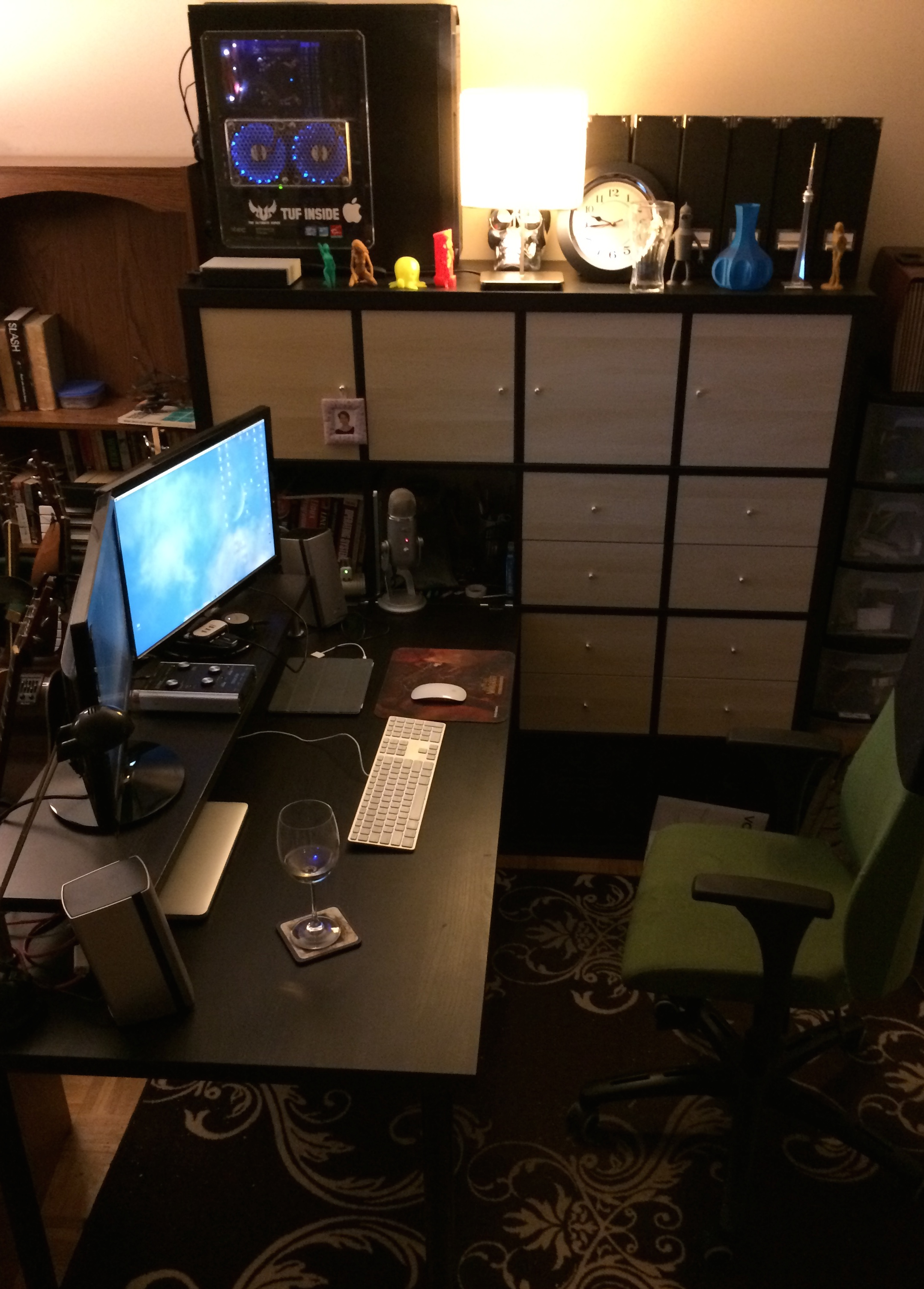 Ikea Hacking  Kallax and Linnmon Mega Desk  novakaneca