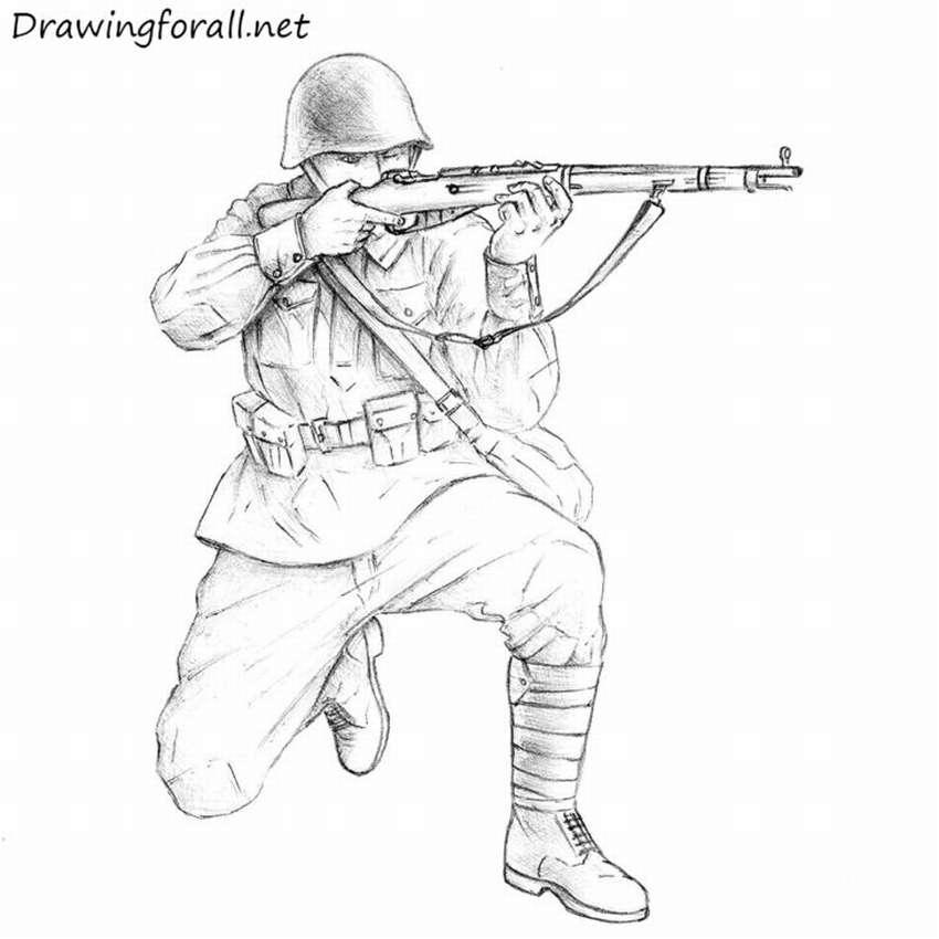 Πώς να σχεδιάσετε έναν σοβιετικό στρατιώτη