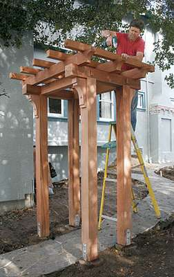 DIY Metall Pergola