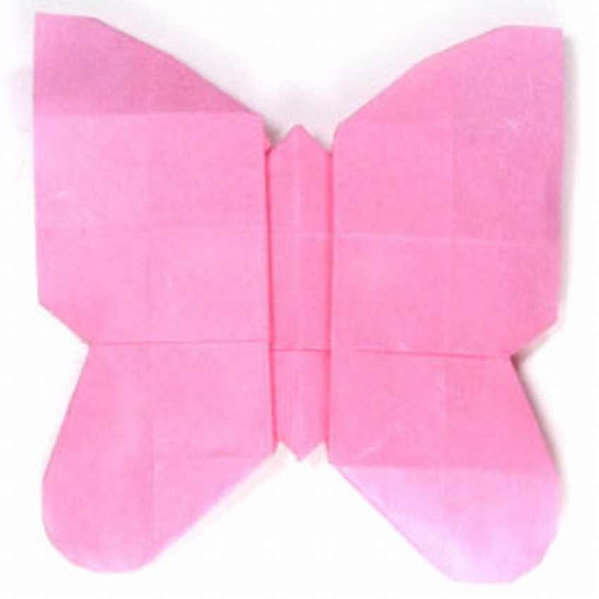 оригами из бумаги бабочка схема поэтапно